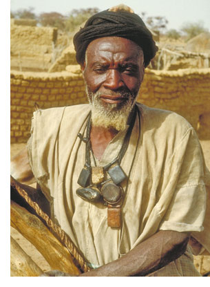 West African man in a rural setting