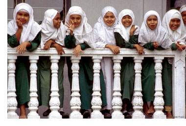 Muslim schoolgirls in Indonesia
